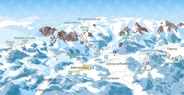 Карта Берхтесгадена